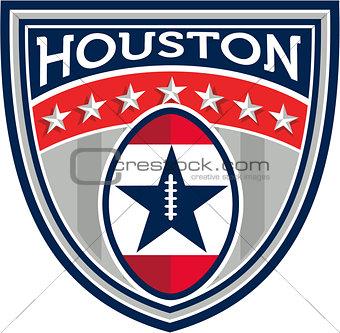 American Football Houston Stars Stripes Crest Retro