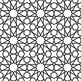 Moroccan stars seamless pattern