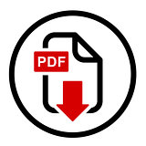 PDF file download simple icon