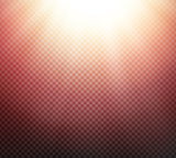 Sunlight rays transparent vector light effect