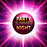 Vector flyer template for summer night party