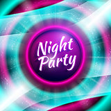 Vector premium flyer template for night party