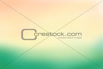 Green and beige blurred background. Vector illustration