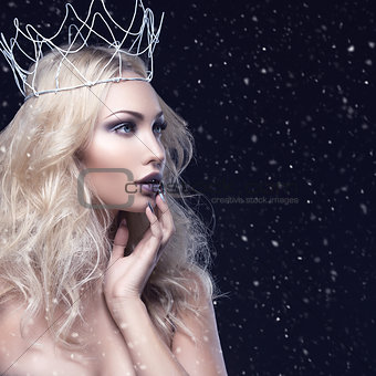 Beautiful girl with crown