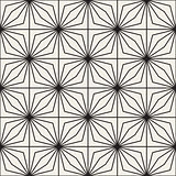 Vector Seamless Black and White Lines Grid Pattern