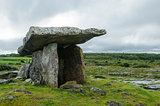 Poulnabrone dolmen, County Clare, Ireland, Europe