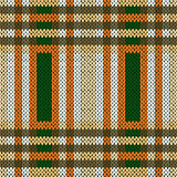 Seamless knitted pattern in brown, green and white
