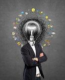 lamp head man have got an idea