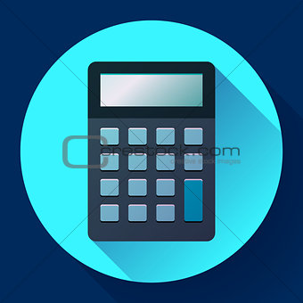 Calculator icon flat style isolated. vector electronic calculation