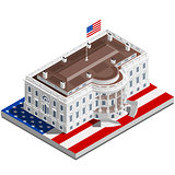 Election Infographic Usa White House Vector Isometric Building