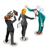 Election News Infographic Politics System Vector Isometric Peopl