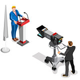 Election News Infographic Presidential Vector Isometric People