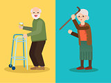 Grandmother scolds grandfather, Grandpa drinks whiskey