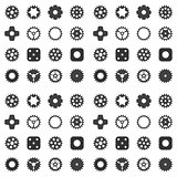 Machine Gear Wheel Cogwheel seamless pattern. Vector illustratio