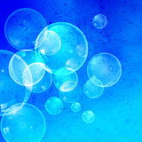 Watercolor background with bubbles