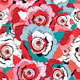 Lovely rose pattern graphics