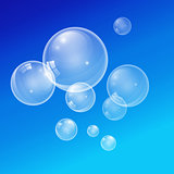 Vector transparent bubbles