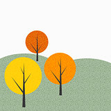 Simple Autumn Tree Background