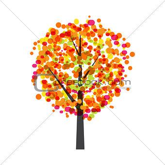 Autumn Tree Background Vector Illustration