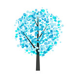Abstract Beautiful Winter Tree Background Vector Illustration