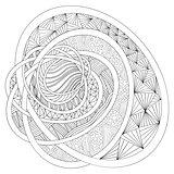 Decorative drawing. Zentangle