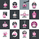 vector logo piggy bank