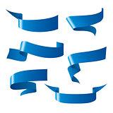 vector ribbon patterns