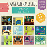 Great city map creator. House constructor.Interiors, furniture.