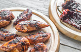 Grilled adobo chicken