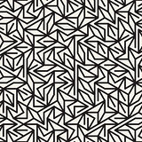 Vector Seamless Black And White Irregular Lines Grid Pattern