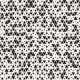 Vector Seamless Black and White Random Size Triangles Grid Pattern