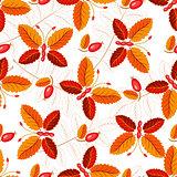 Seamless autumnal pattern with butterflies