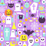 Halloween Modern Colors Seamless Pattern