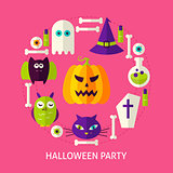 Halloween Party Flat Concept