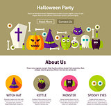 Halloween Party Web Design Template