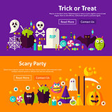 Halloween Party Website Banners