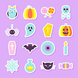 Halloween Party Stickers Set