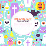 Halloween Party Trendy Background