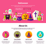 Halloween Web Design Template