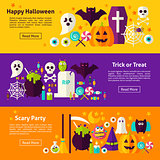 Halloween Web Horizontal Banners