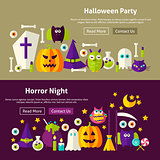 Halloween Website Banners