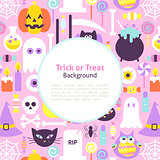 Halloween Trick or Treat Trendy Background