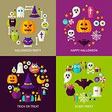 Happy Halloween Concepts Set
