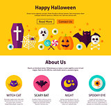 Happy Halloween Web Design Template