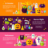 Happy Halloween Web Horizontal Banners