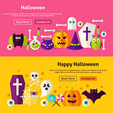Happy Halloween Website Banners