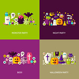 Scary Halloween Concepts Set