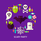 Scary Party Flat Concept