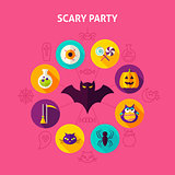 Scary Party Infographic Concept