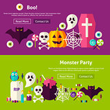Scary Party Website Banners